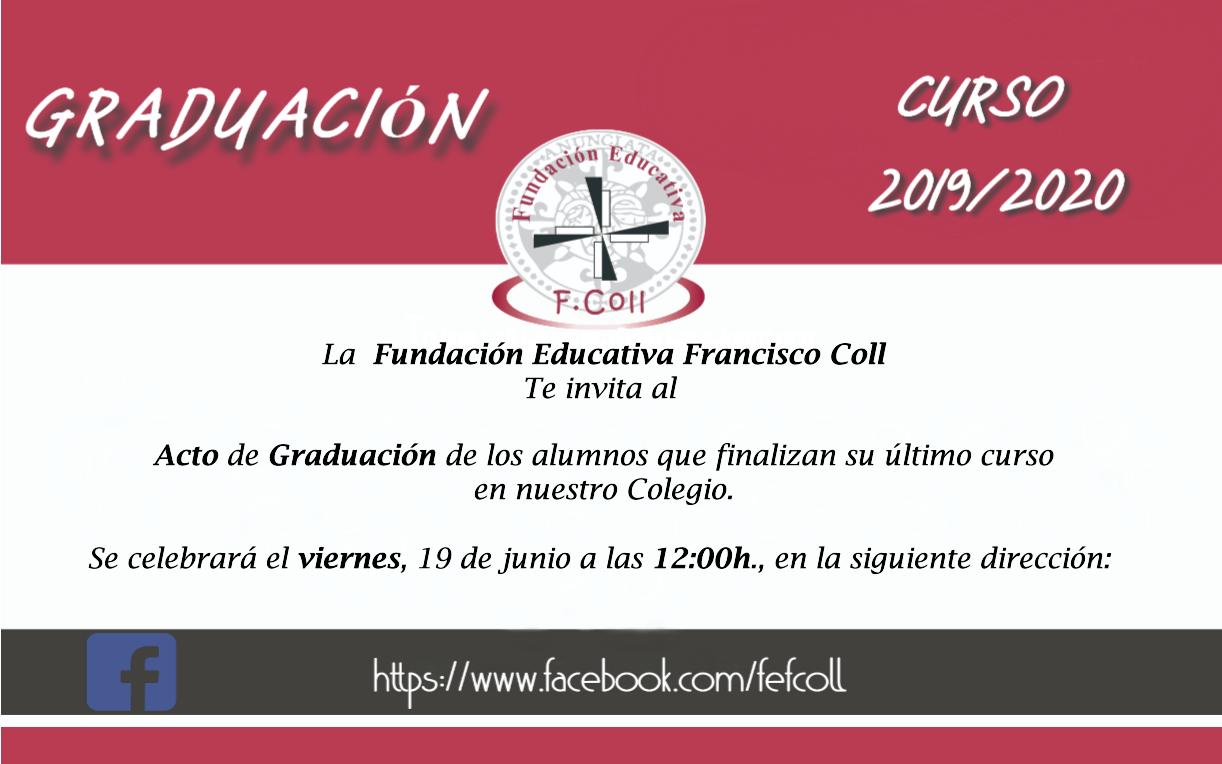 Invitación Graduación personal del centro